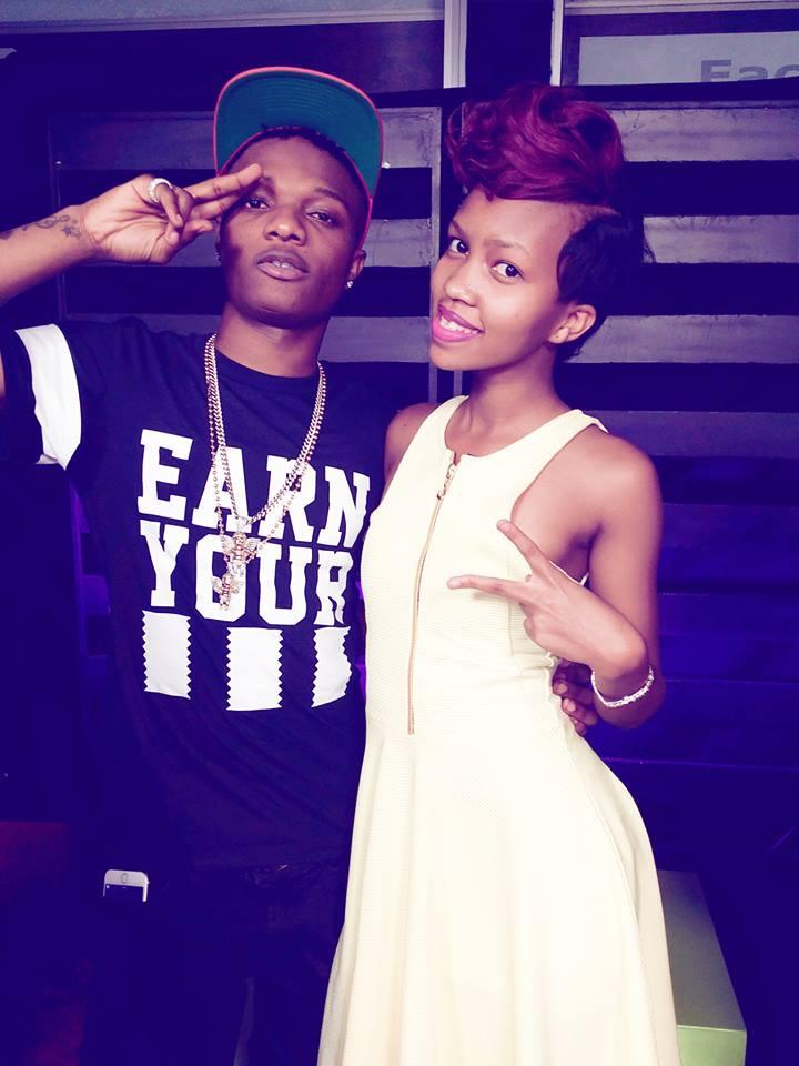 Sheilah Gashumba with Nigerian singer Wizkid