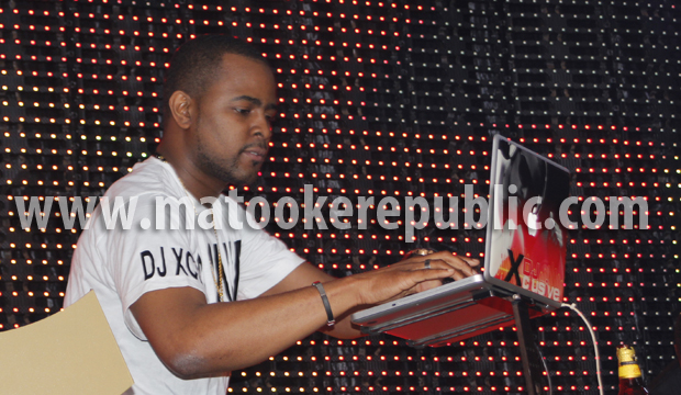 """Wizkid's official DJ Xclusive. There is something about Ugandans and loving """"official DJs"""". The way the girls screamed you would think he was the star of the night."""
