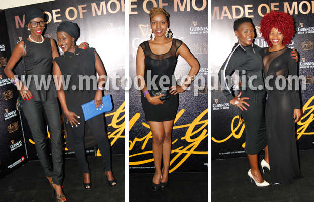 Judith Heard and Lillian Mbabazi, Susan Naava, Sylvia Owori and Sheebah Karungi.