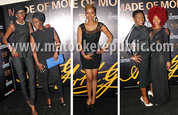 Judith Heard and Lillian Mbabazi, Susan Naava, Sylvia Owori and Sheebah Karungi.